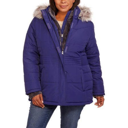 d9909c000da Free Tech Women s Plus-Size Heavyweight Puffer Coat with Faux Fur Trim