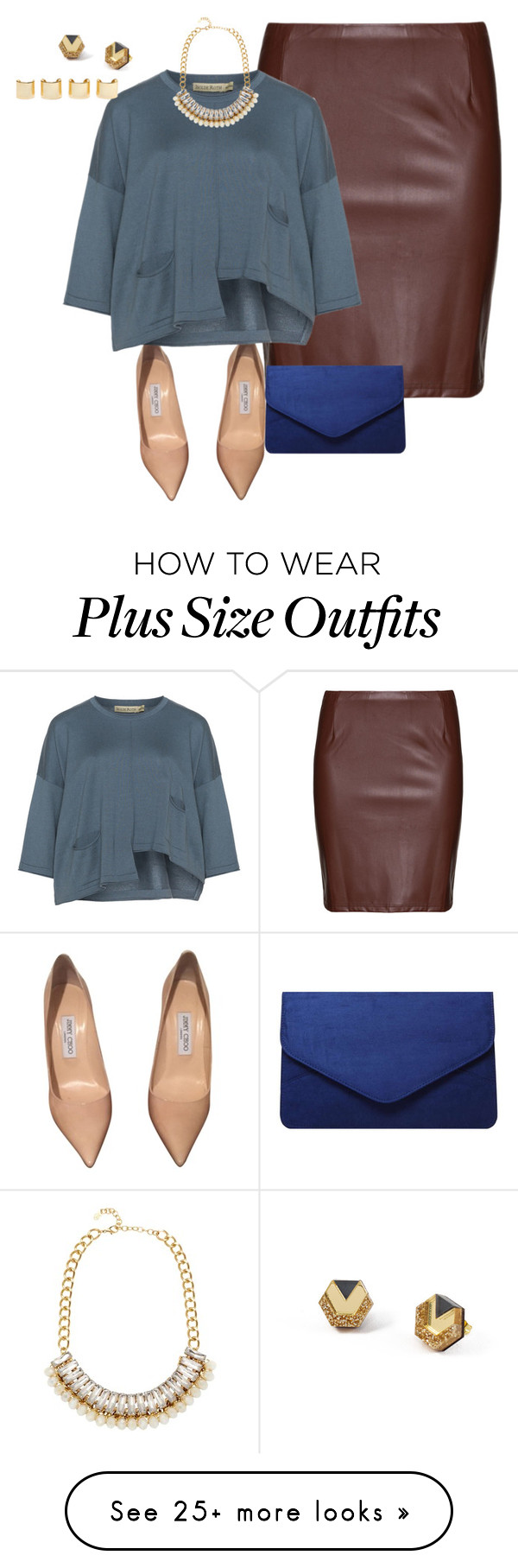 """plus size something different"" by kristie-payne on Polyvore featuring Studio, Jimmy Choo, Isolde Roth, Dorothy Perkins, Adele Marie, Wolf & Moon, Luv Aj, women's clothing, women and female"