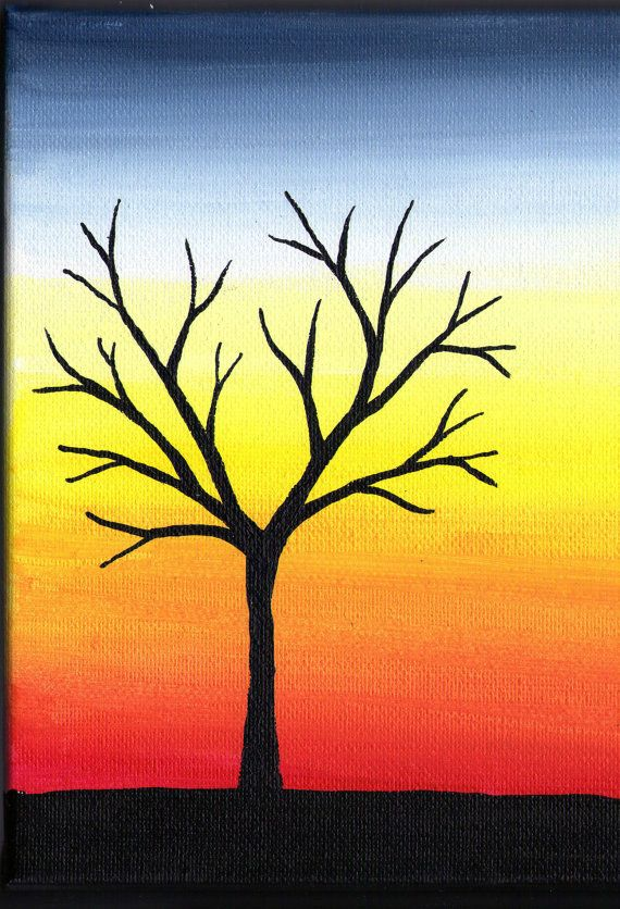 Tree Painting Original Acrylic On Canvas By PossumTree 3500 I Love This