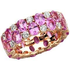 Romantic Herons Ruby Onyx Tsavorite Diamond Double Clip Brooch
