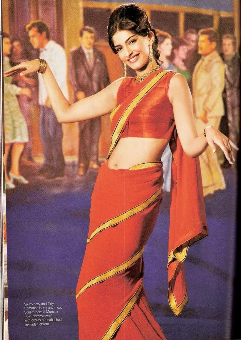 Mumtaz-style Saree drape