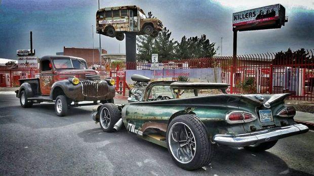 1959 El Camino Rat Rod with a supercharged 400 ci V8
