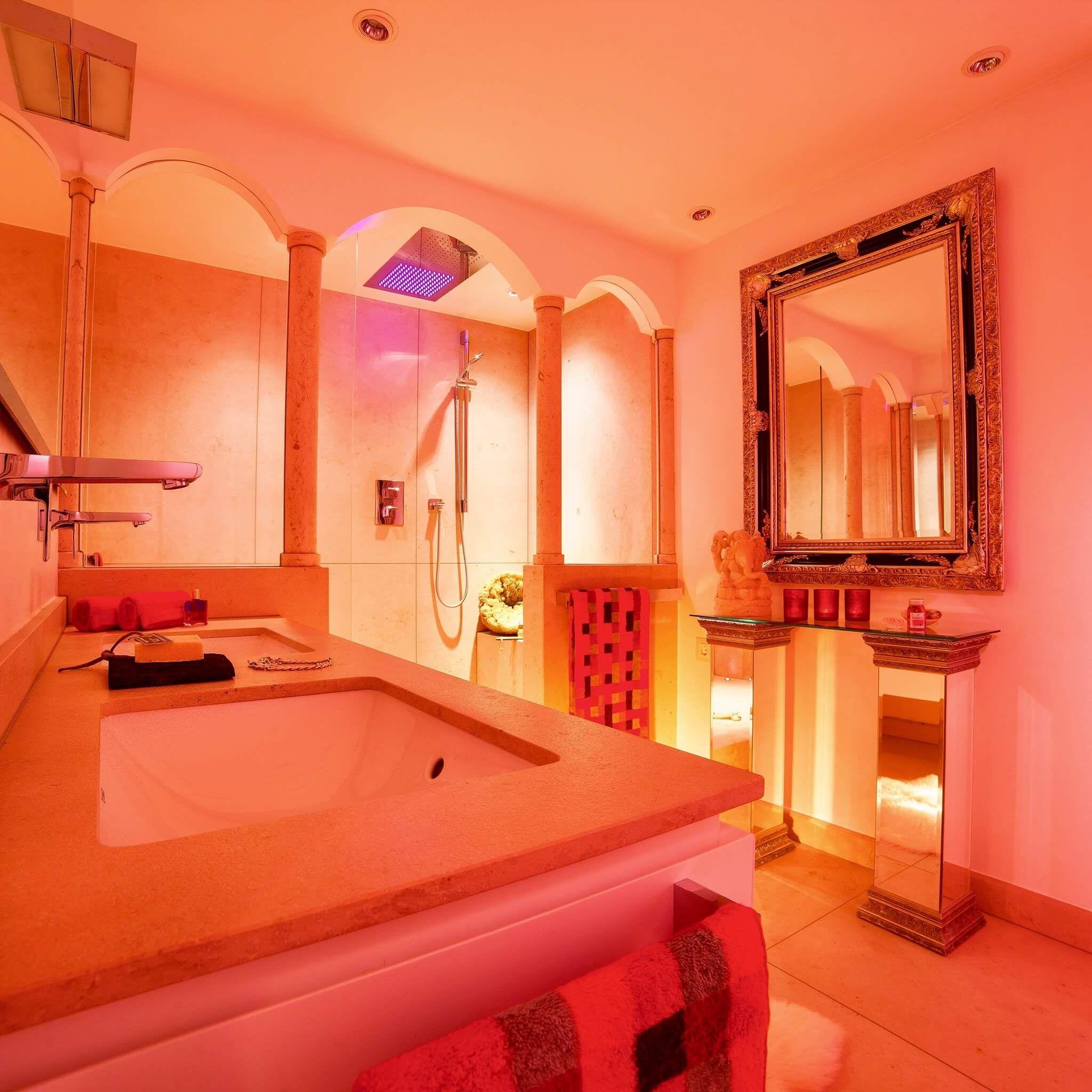 Badezimmergestaltung Wie Sie Ihr Bad Im Mediterranen Stil Gestalten Bad Design Badgestaltung Lichtdesign