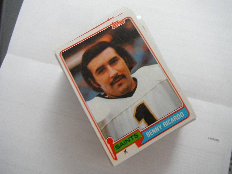 Benny Ricardo 1981 Topps Football Card 306 Near Mint