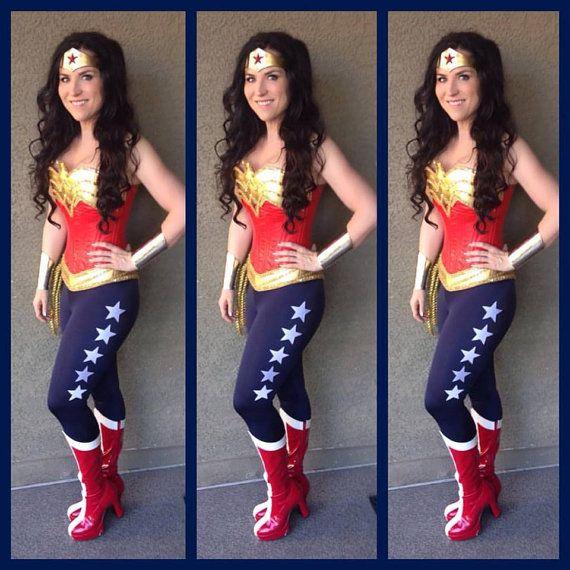 Wonder Superhero Woman Pants Navy With 5 White Stars -1513