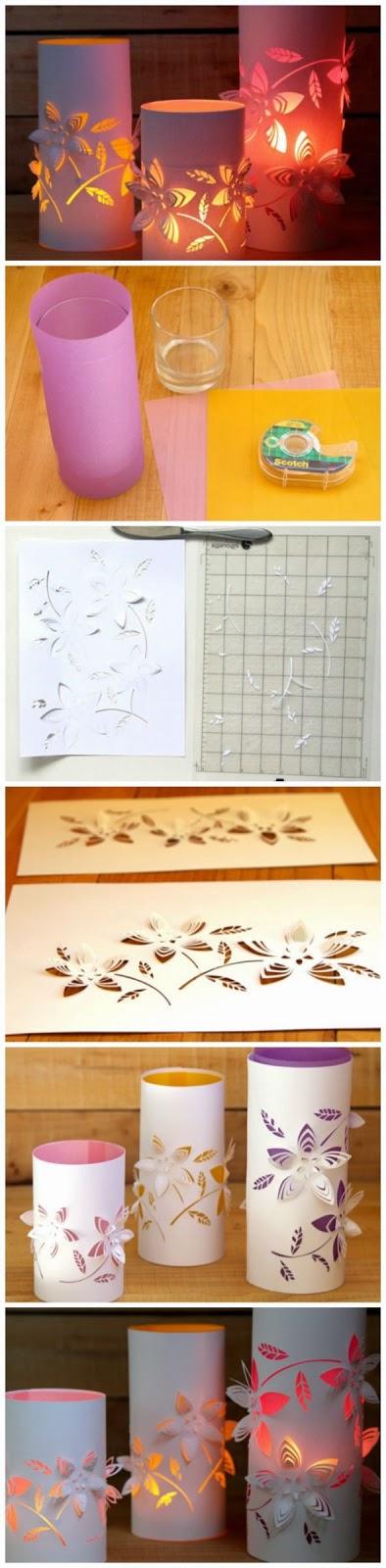 Diy project 3d paper lanterns proyectos que intentar pinterest sobres de papel - Manualidades y bricolaje ...