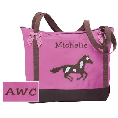 Great Gift for Pony Lovers! Personalized Pony Tote Bags