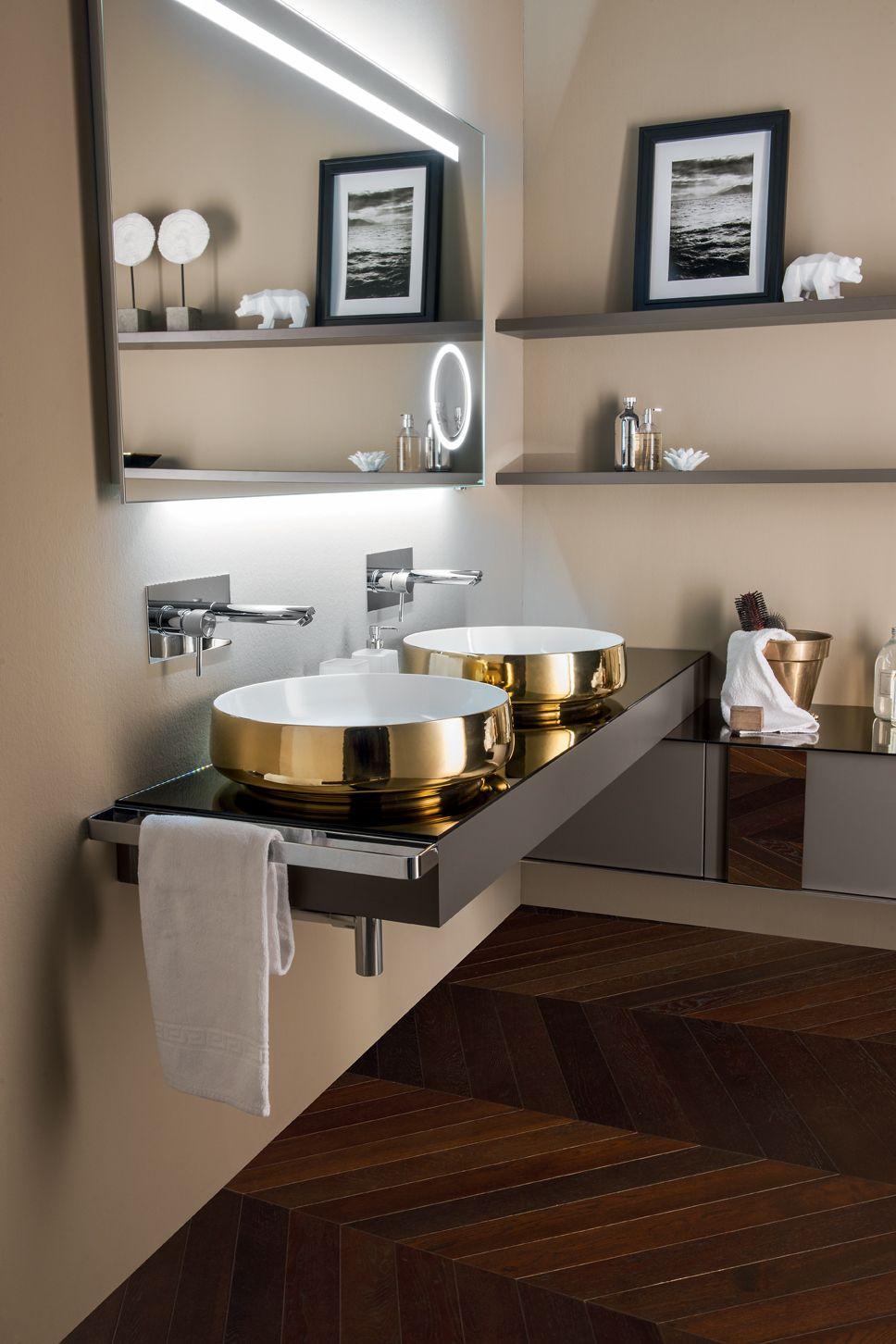 Sectional vanity unit QAMAR - Composizione 2 Qamar Collection By INDA� design Sergio Brioschi