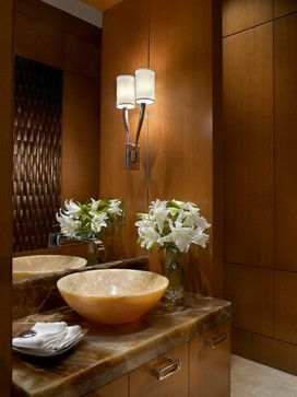 Ocean Penthouse Miami Beach - traditional - Powder Room - Miami - alene  workman interior design