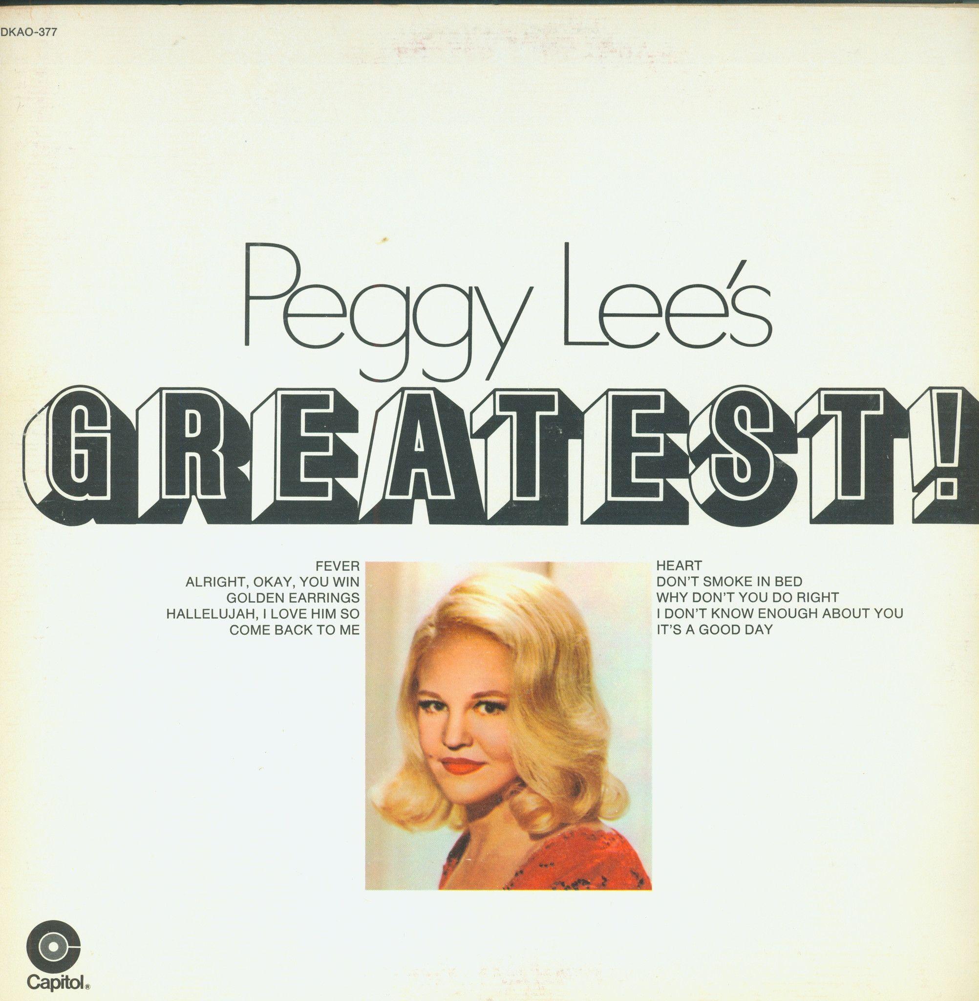 Peggy Lee's Greatest! Vinyl LP Record Album