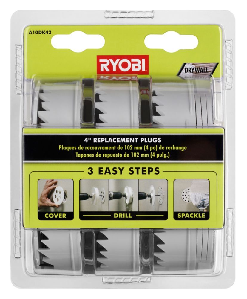 4 Inch Replacement Plugs For Drywall Repair Kit Drywall Repair Drywall Drywall Screws