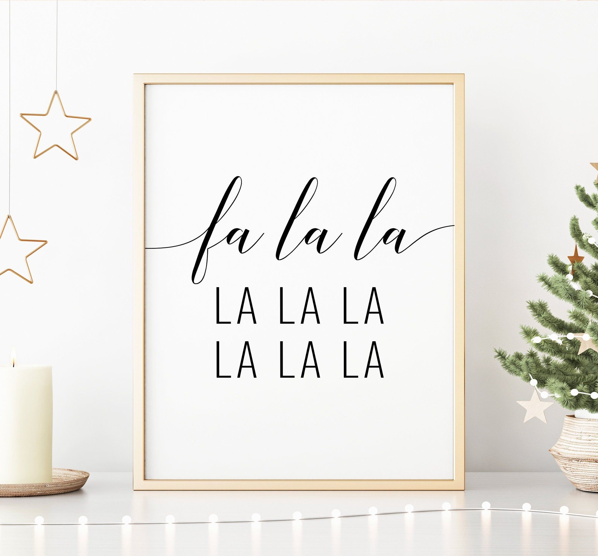 Fa La La La La Printable Art Christmas Lyrics Christmas Printable Wall Art Christmas Song Lyrics Poster Instant Download Christmas Lyrics Song Lyric Posters Christmas Songs Lyrics