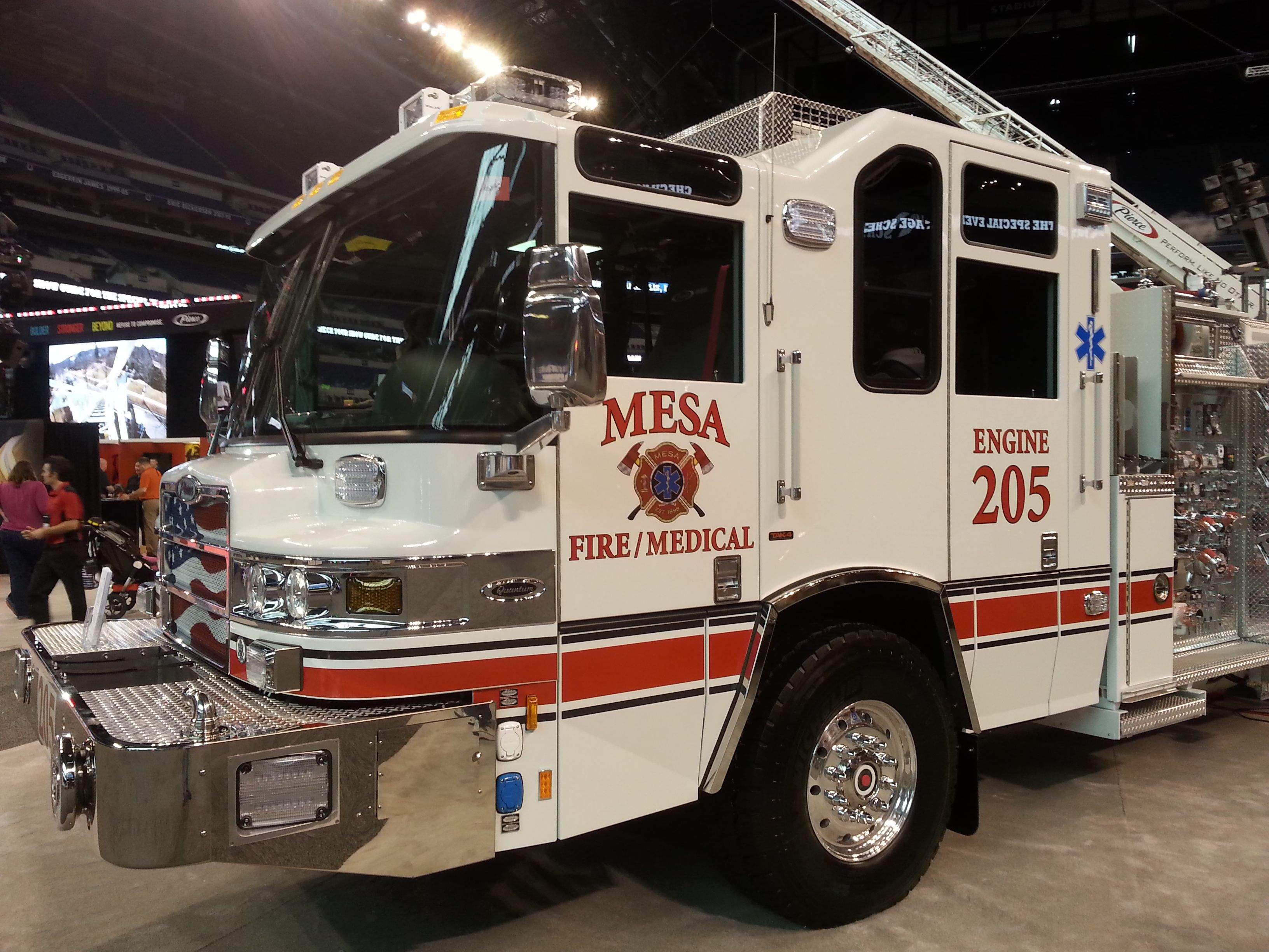 Beautiful truck specially designed by the apparatus committee at mesa fd has a great setcom intercom system inside