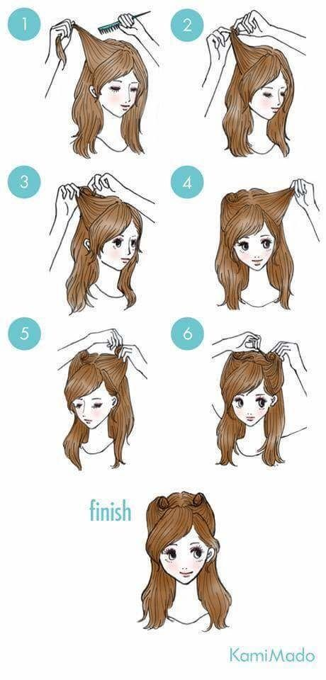 Simple And Easy Hair Styles For Daily Styling Hair Hairlove Post On Roposo Com Kawaii Hairstyles Easy Everyday Hairstyles Hair Tutorial