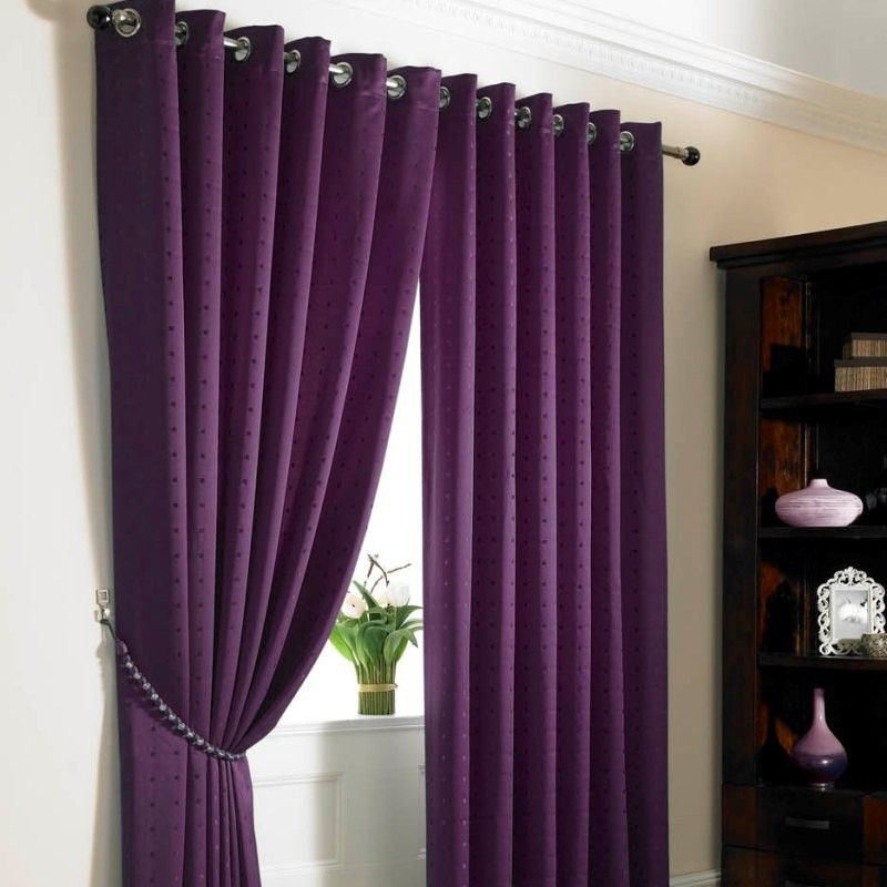 Lined Jacquard Ring Top Curtains Purple Purple Colour Scheme For Bedroom Pinterest