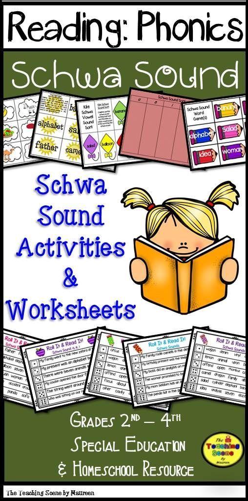 Schwa Sound Centers Worksheets Pinterest