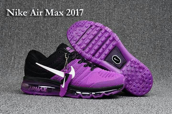 fe2a7bffea89 Purple black air max 2017 women shoes