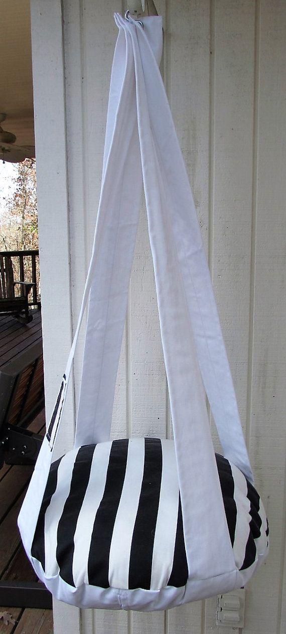 Cat Bed Black & White Stripe Single Kitty Cloud Hanging Cat