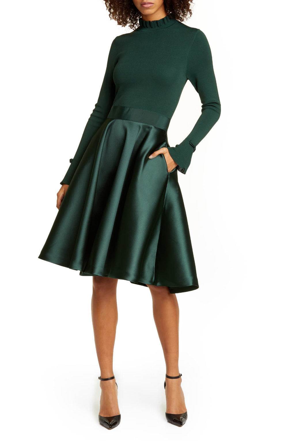 Ted Baker London Zadi Long Sleeve Fit Flare Dress Nordstrom Fit Flare Dress Flare Dress Fashion Clothes Women [ 1533 x 1000 Pixel ]