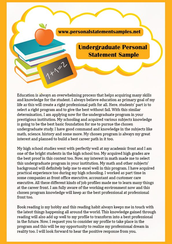 Great Undergraduate Personal Statement Example For Public Policy