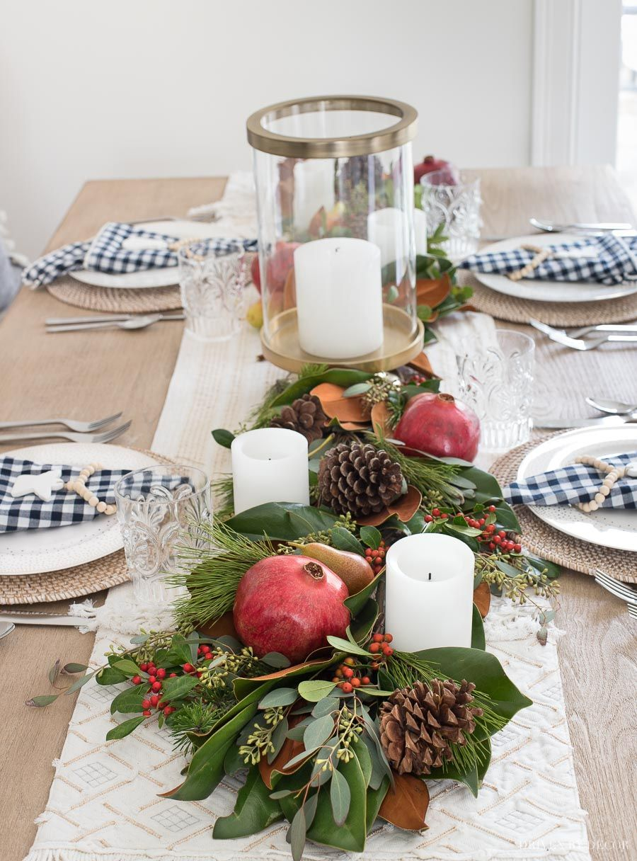 How To Make A Greenery Table Runner Step By Step Driven By Decor Thanksgiving Table Decorations Thanksgiving Table Settings Magnolia Christmas Decor