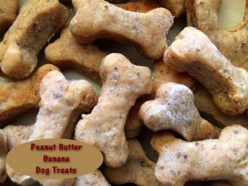 Peanut Butter Banana Dog Treats  http://www.momspantrykitchen.com/peanut-butter-banana-dog-treats.html