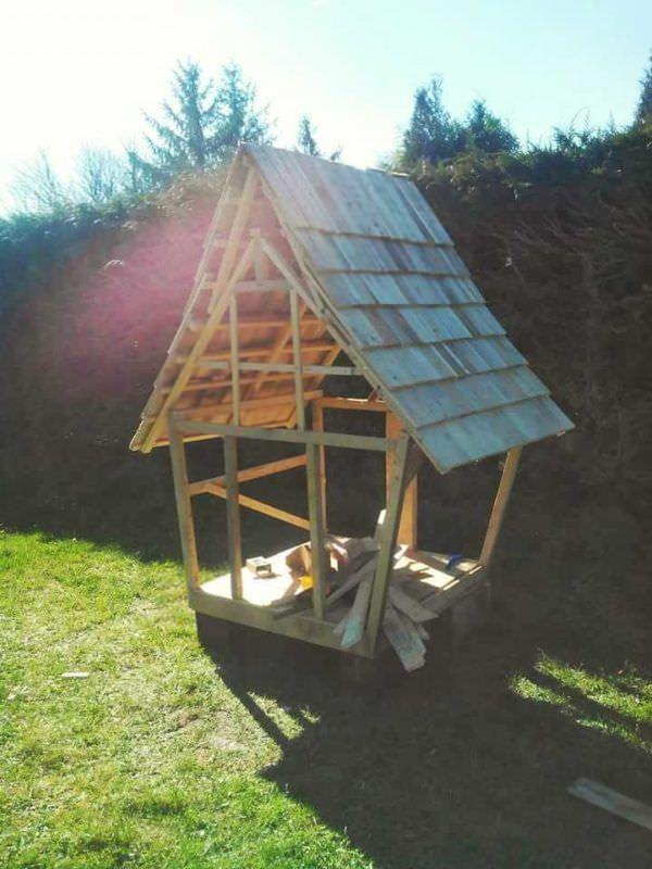 Cabane Enfants Façon Tim Burton / Fairy Tale Kids Pallet Hut From 11 - plan maisonnette en bois
