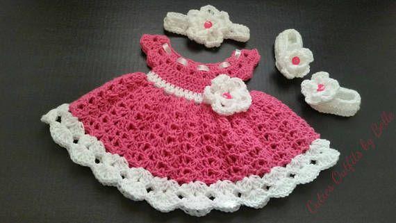 51fe3eaed1f0c Pink Crochet Baby Set Infant Baby Set Handmade Baby Girl | ETSY MUST ...