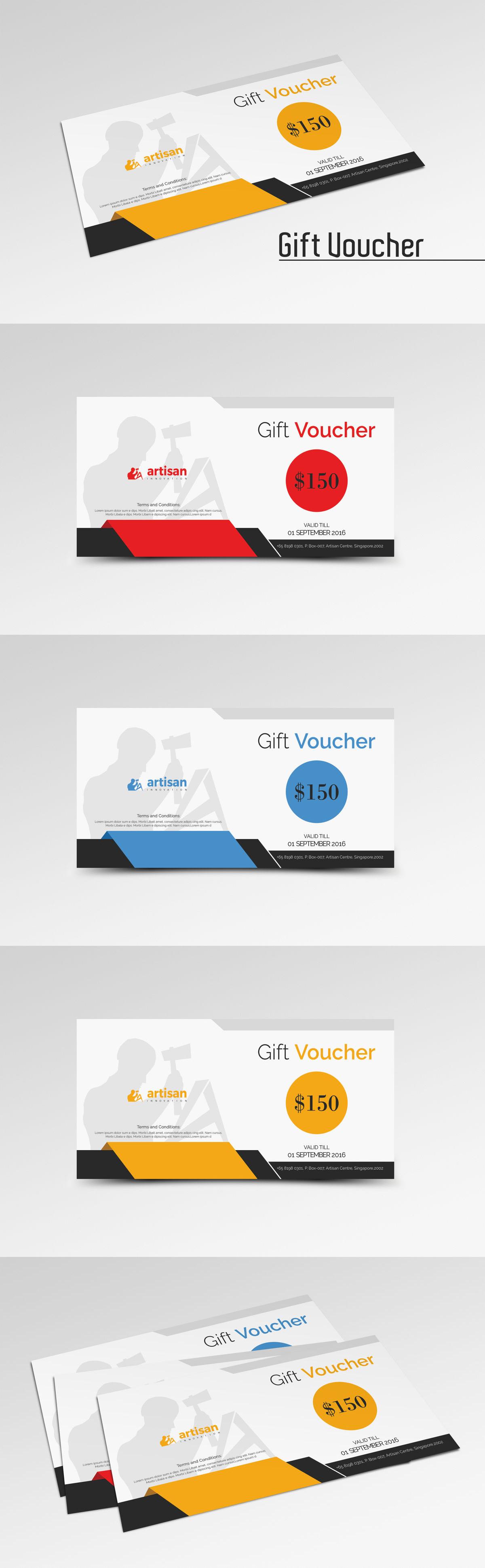 Gift Voucher Template Ai Eps Psd Gift Voucher Design Templates