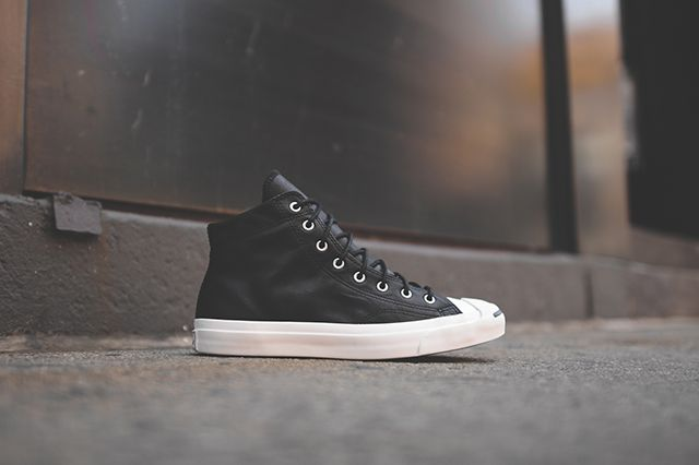 Converse Jack Purcell Leather Mid Sneakers