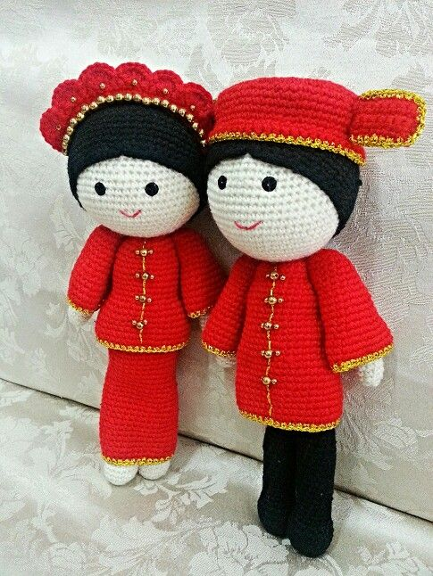Crochet doll *Chinese bride & groom* | Oriental | Pinterest ...