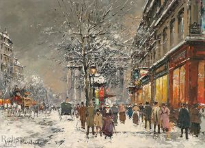 """Le Chatelet"" de Antoine Blanchard (Marcel Masson) (1910-1988, France)"