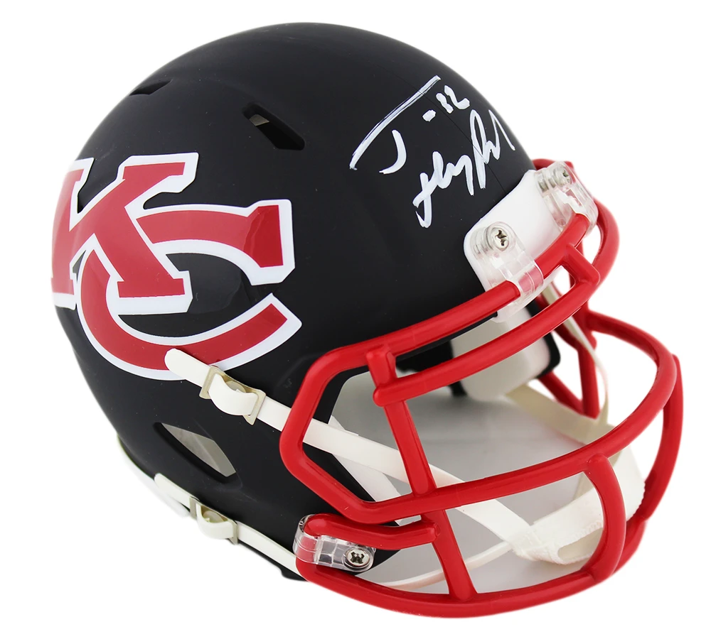 Tyrann Mathieu Signed Kansas City Chiefs Speed Amp Nfl Mini Helmet Wit Super Sports Center In 2020 Kansas City Chiefs Football Helmets Hopkins Texans
