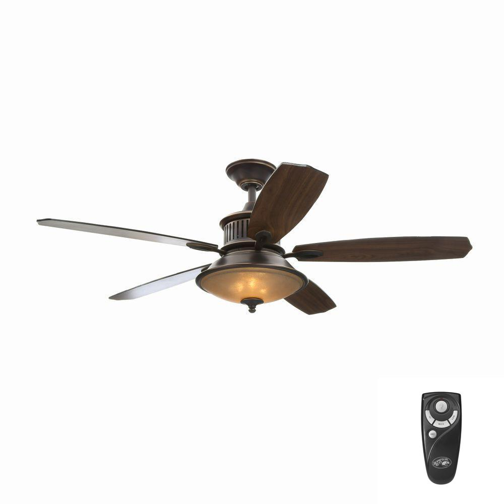 Hampton Bay Isolabella Ii 52 In Indoor Tarnished Bronze Ceiling Fan With Light Kit And Remote Control Kelly Makeover Ceiling Fan Bronze Ceiling Fan Hampton Bay Ceiling Fan
