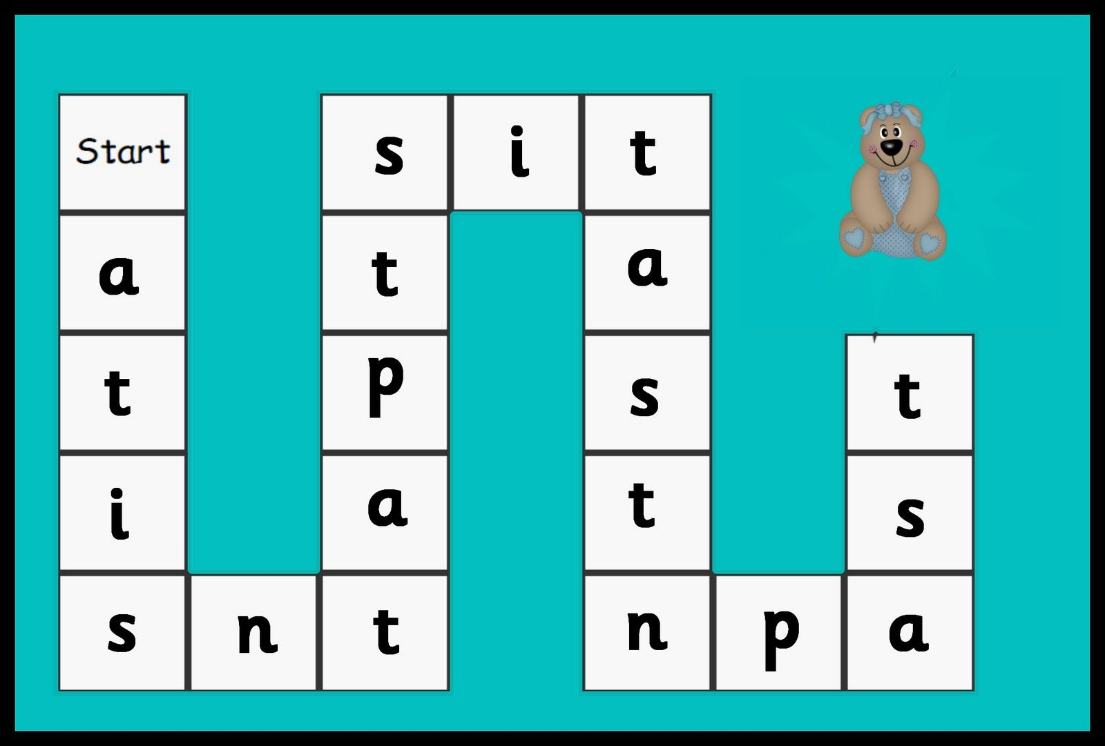 Satpin Game Phase 2 Letters And Sounds Debbie S Resource Cupboard Phonics