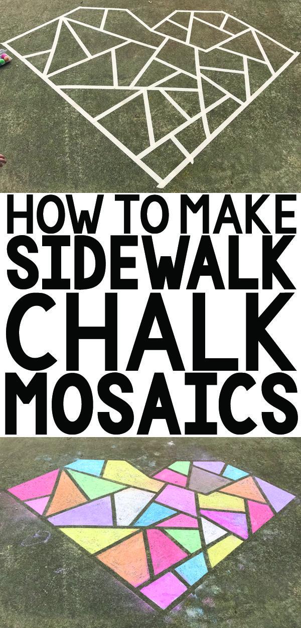 How to Make a Sidewalk Chalk Mosaic - Designing Tomorrow