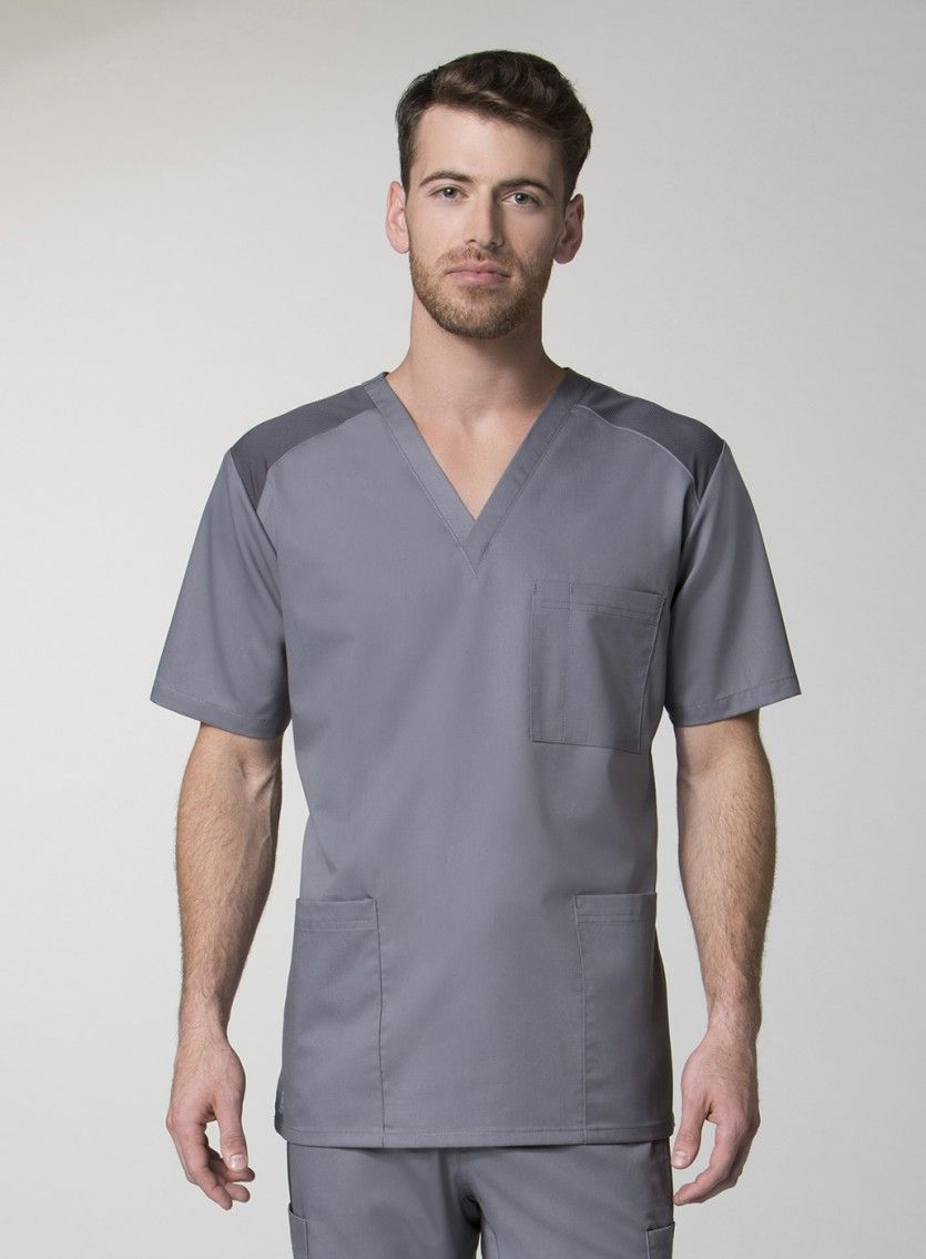 6c979860538 Our EON mens scrub top has all the necessities for any guy in the medical  industry. Made from extra breathable fabrics, these medical scrubs will  keep you ...