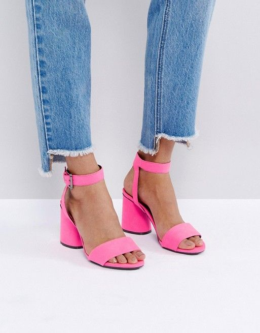6d8dee94c7f Bright Pink Heel Sandals | Style I Love | Strappy sandals, Shoes ...