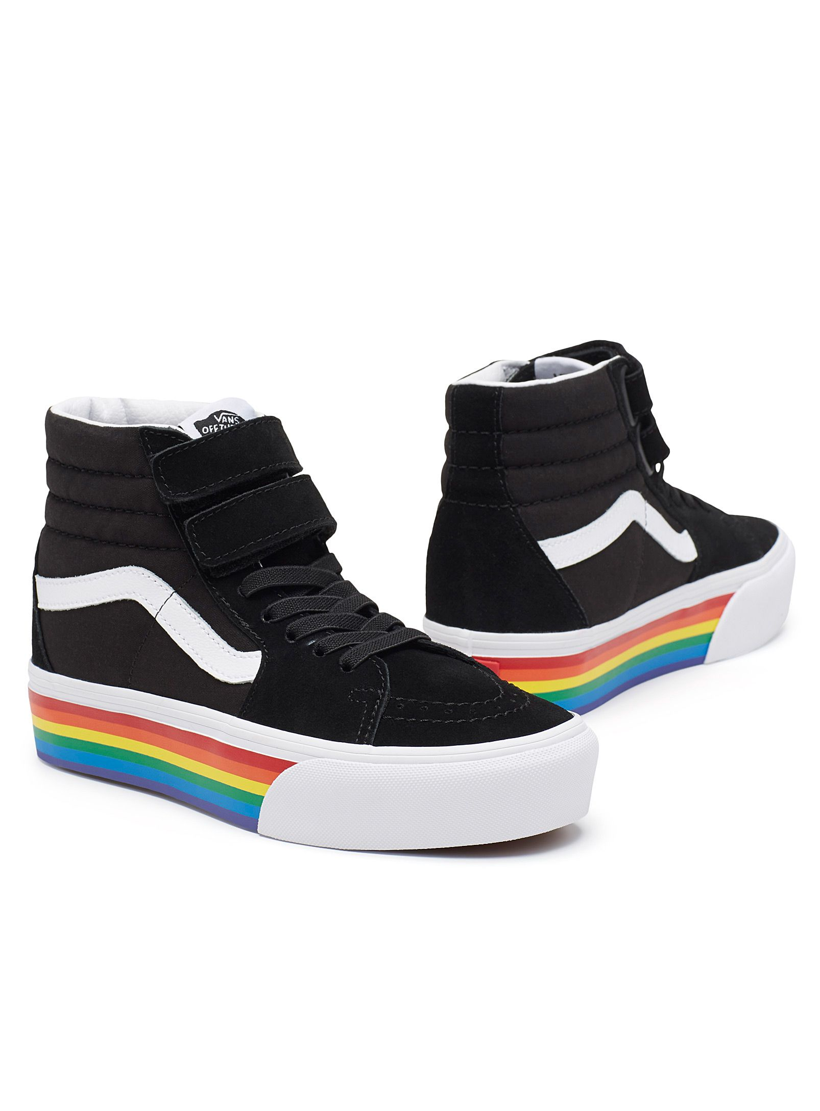 vans sk8 hi v rainbow