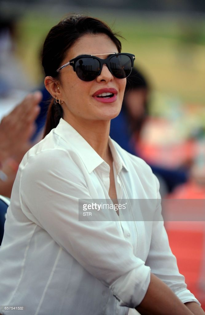 Sri Lankan Bollywood Actress Jacqueline Fernandez Poses During A