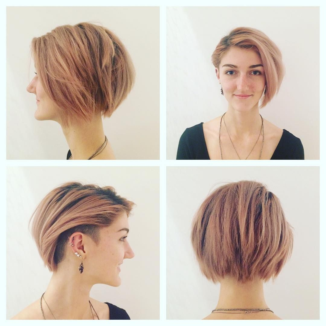 Pretty Undercut Bob with Side Bangs | Hair Styles in 2019 ...
