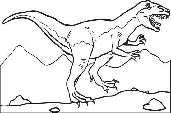 T Rex Dinosaur Coloring Page 2