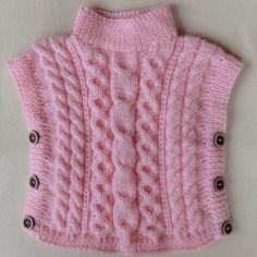 chaussures de sport 0c10b e2f9d Poncho en laine fille taille 18/24 mois coloris rose jolis ...