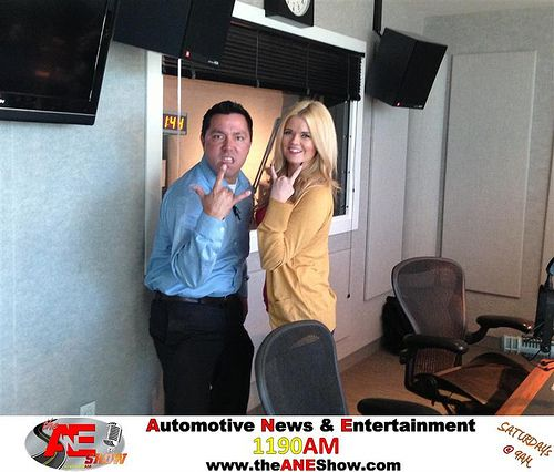 Bubba Of Chrysler Jeep Dodge City Of Mckinney Parties With Actress Model Jennifer Reed During The Ane Show In The Clear Channel Radio Studios Chrysler Jeep Jeep Dodge Chrysler