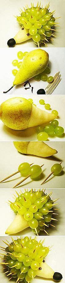 jeżz gruszki i winogron