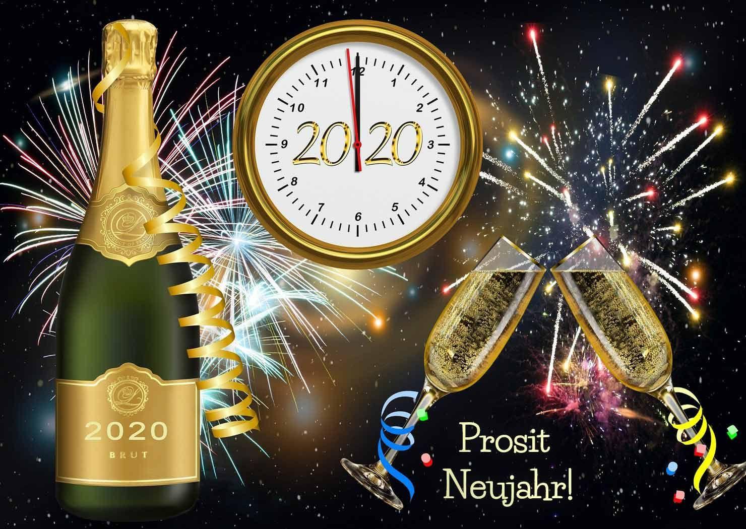 Prosit Neujahr 2020! gesundesneuesjahr2020