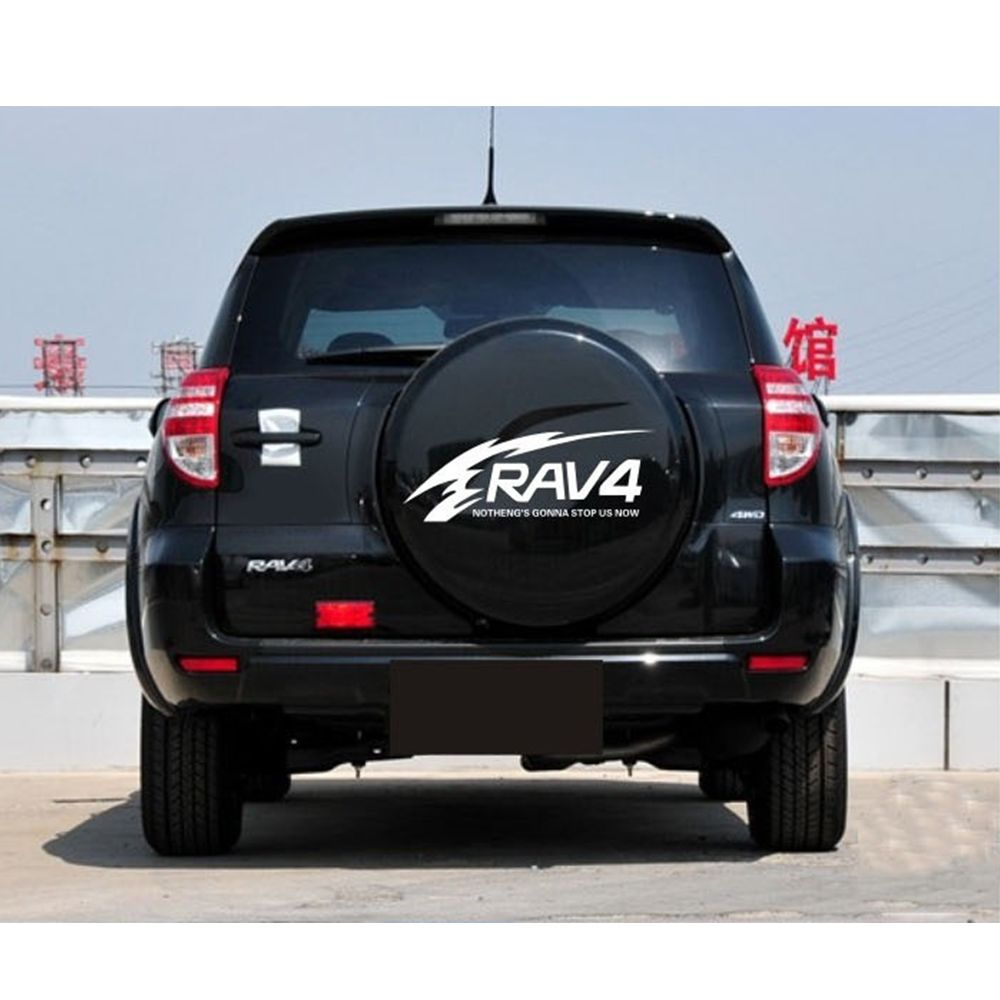 Car styling for toyota rav4 suv sports offroad car tail spare wheel decoration car sticker flower