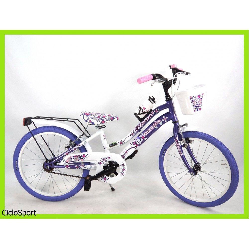 Bicicletta Per Bambinabimba Venere Misura 20 Biancoviola