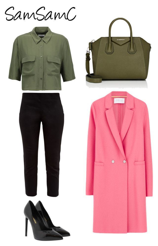 """""""Untitled #213"""" by samchoo ❤ liked on Polyvore featuring Equipment, Harris Wharf London, Givenchy, Yves Saint Laurent and Ted Baker"""