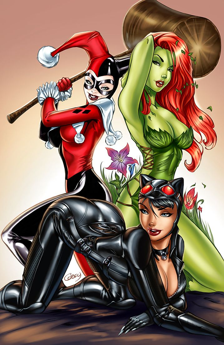 Poison ivy harley quinn and catwoman dc pinterest - Fille de manga nue ...